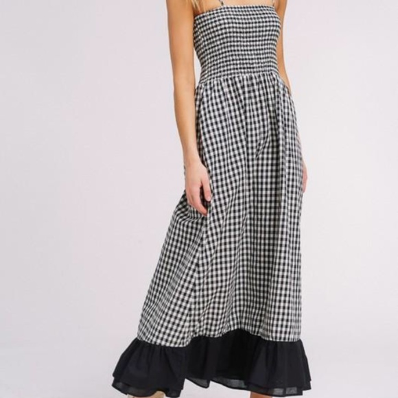 Listicle Dresses & Skirts - Listicle black and white gingham maxi dress